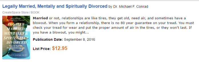 legally married, mentally and spiritually divorced