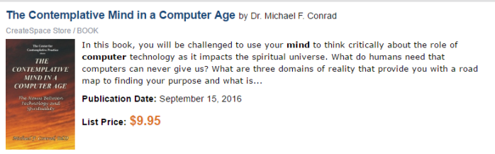 the contemplative mind in the computer age